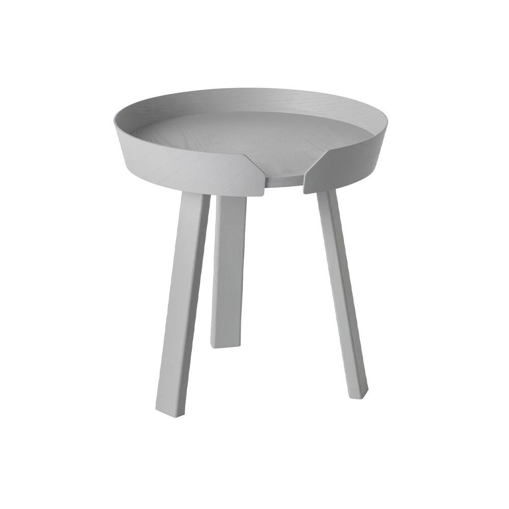 Around gray coffee table Muuto