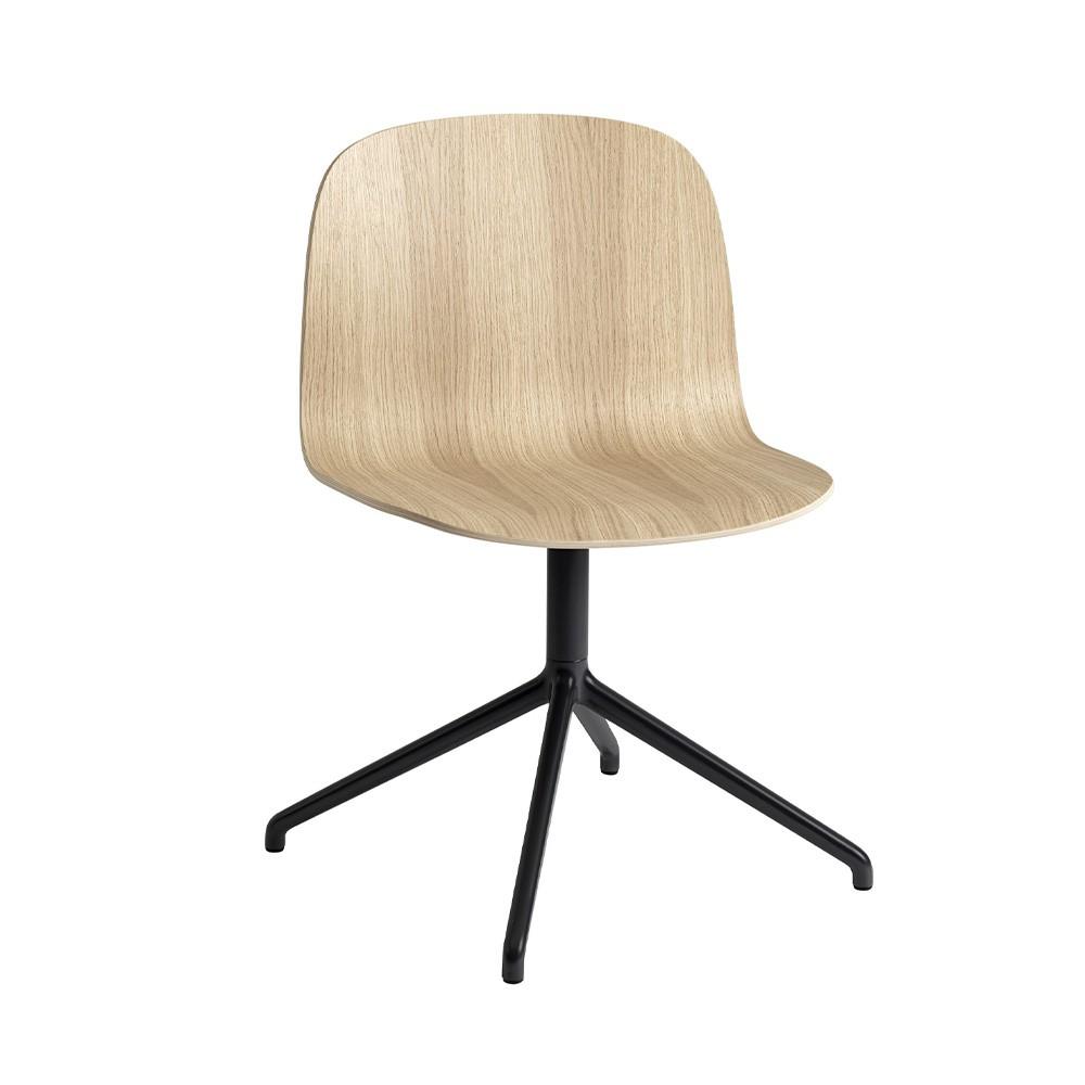 Visu Wide chair oak & swivel base Muuto