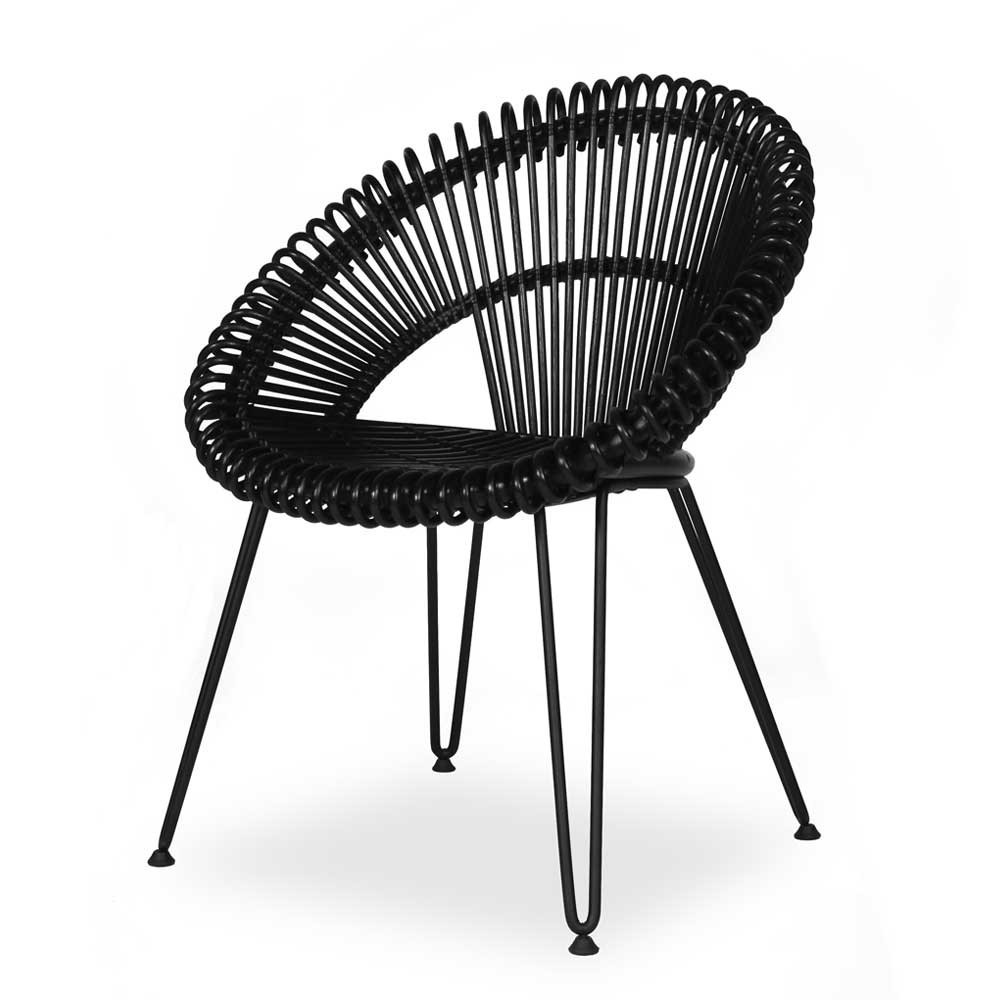 Chaise Curly noir Vincent Sheppard