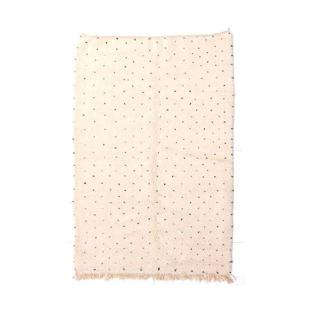 Beni Ourain carpet black beige dots patterns M Chabi Chic