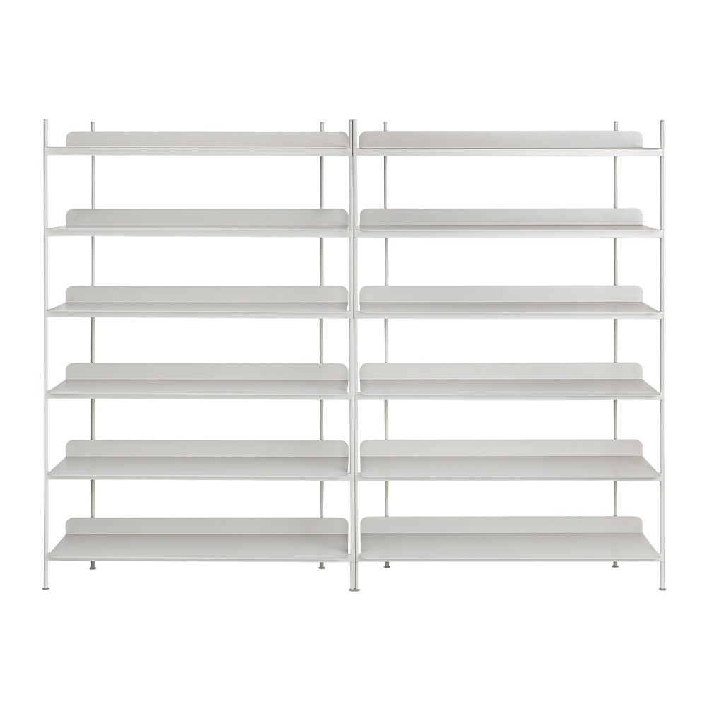 Compile shelving system gray configuration 8 Muuto