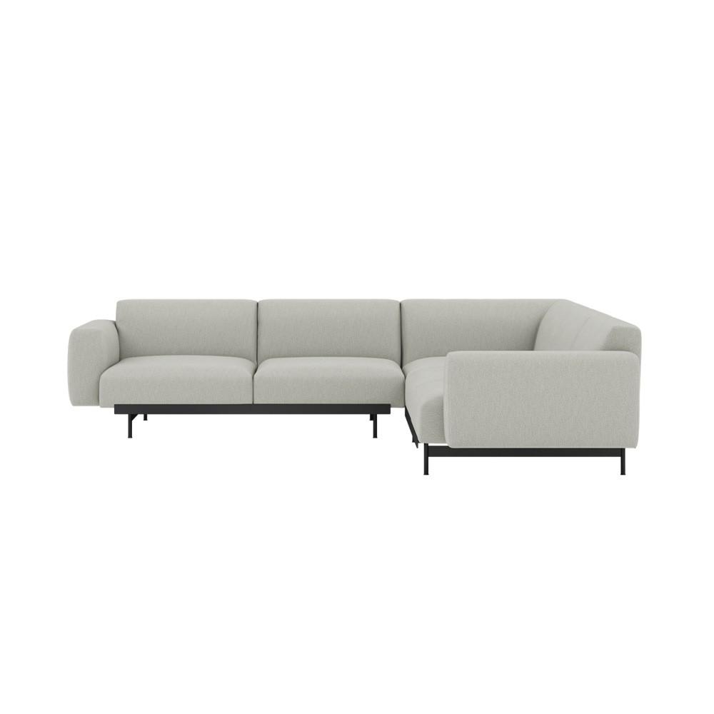 Corner sofa In Situ fabric Clay 12 light gray configuration 1 Muuto