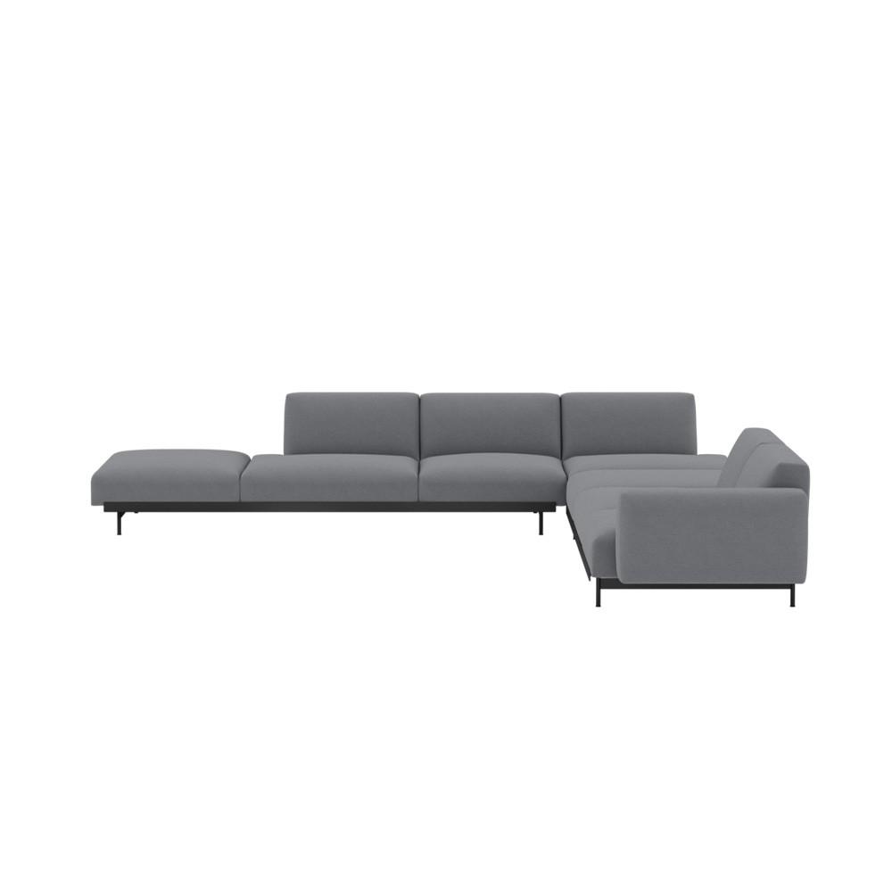Corner sofa In Situ fabric Ocean 80 dark gray configuration 9 Muuto
