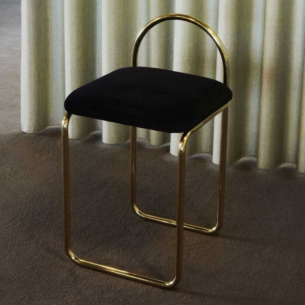 Angui anthracite & gold chair AYTM