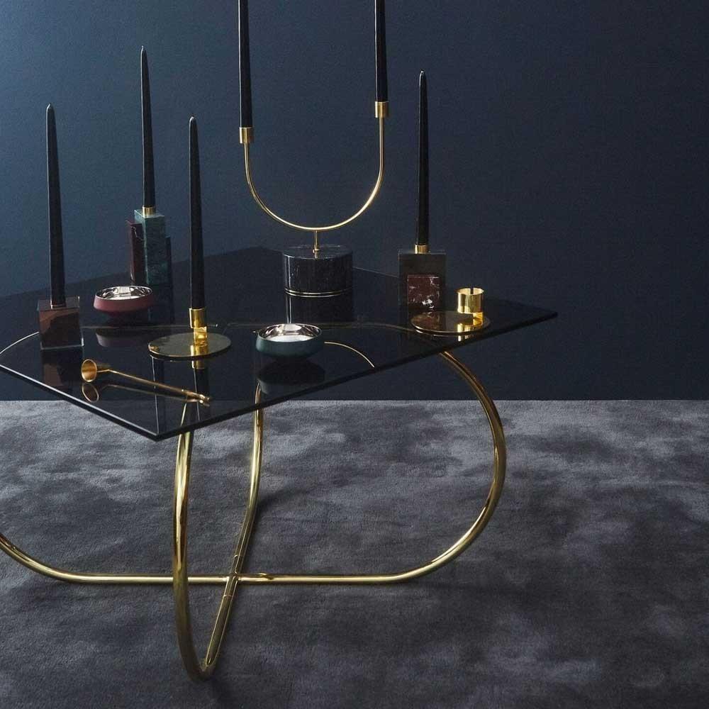 Table basse Angui noir & or AYTM