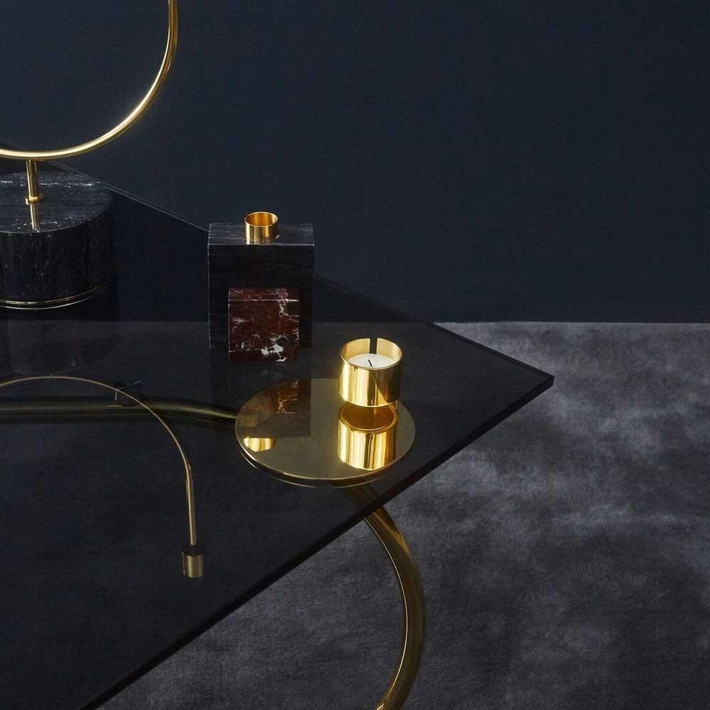 Mesa de centro Angui negro y dorado AYTM