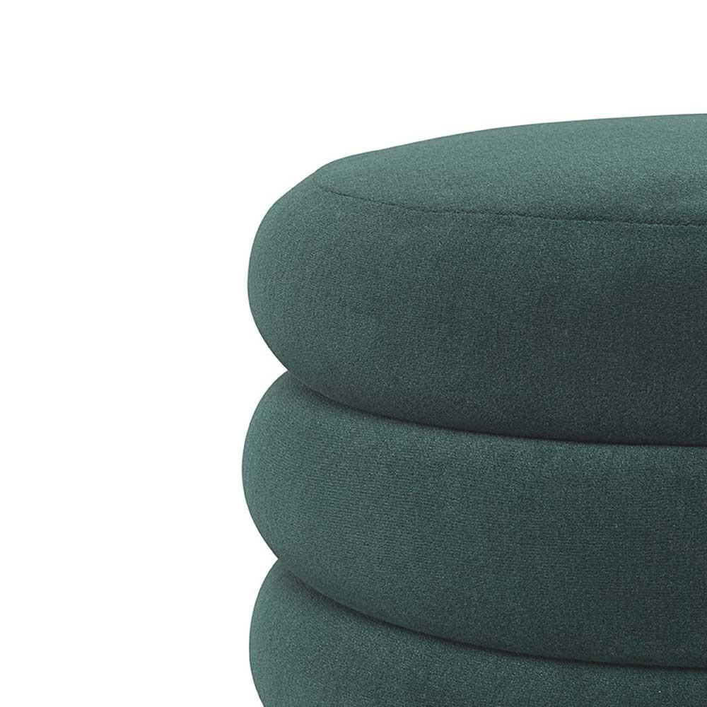 Round pouf L dark green Ferm Living