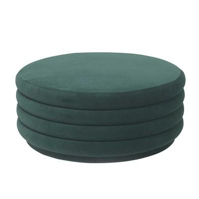Pouf Round L vert foncé
