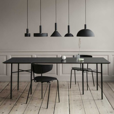 Mingle table black veneer