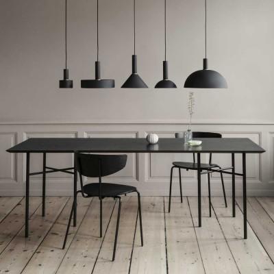 Mingle tafel zwart fineer