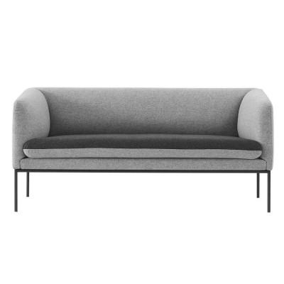 Canapé Turn laine gris clair & gris foncé