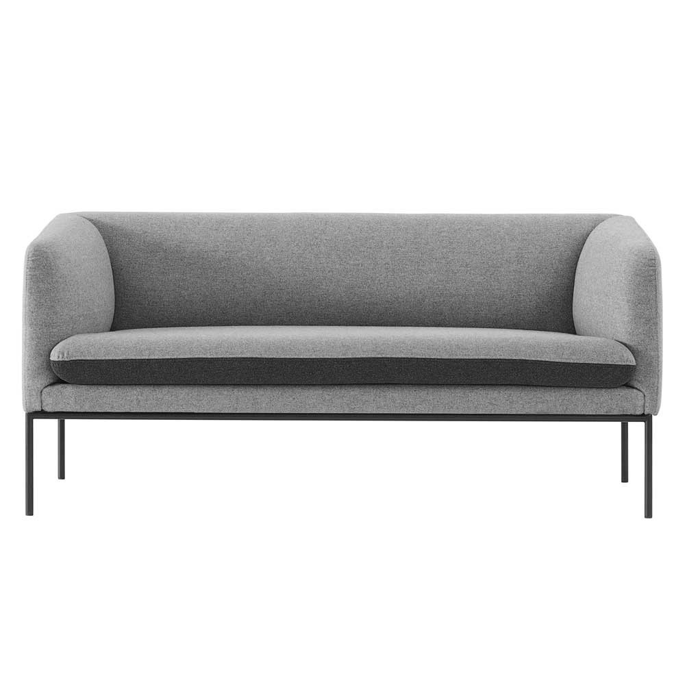 Turn wool sofa light grey & dark grey Ferm Living