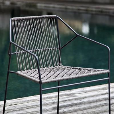Sandur rugleuning geweven stoel