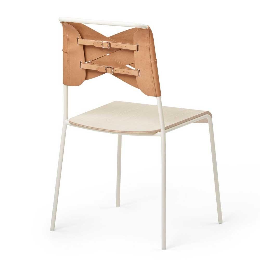 Torso stoel essenhout & natuurlijk leer Design House Stockholm