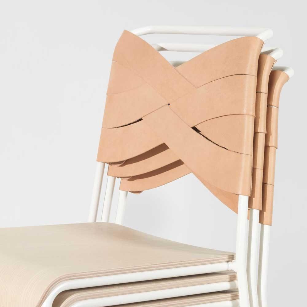 Chaise Torso frêne noir & noir Design House Stockholm