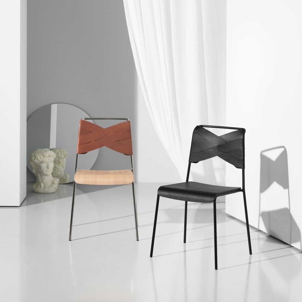 Chaise Torso chêne & cognac Design House Stockholm