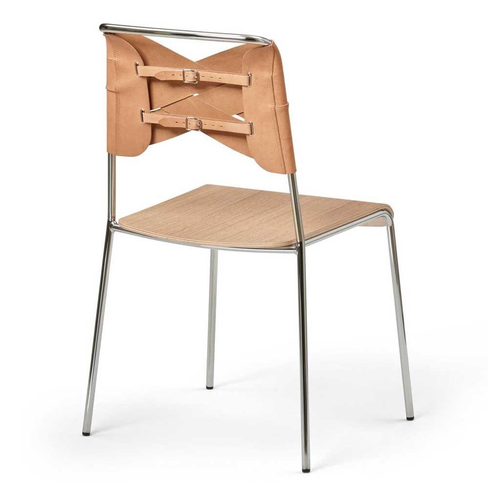 Torso chair oak & natural leather Design House Stockholm