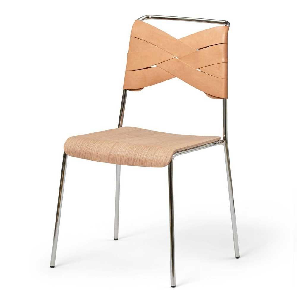 Silla Torso roble y cuero natural Design House Stockholm