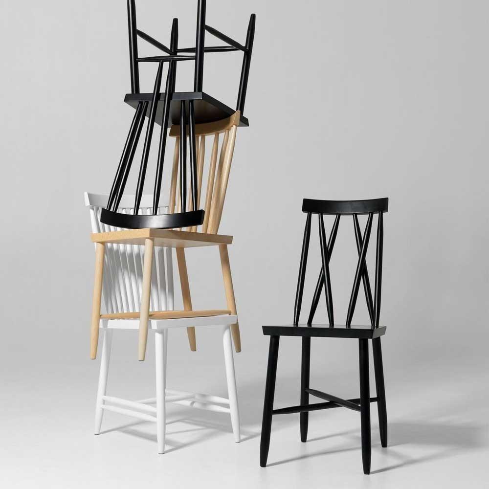 Family chair n ° 2 bianco (set di 2) Design House Stockholm