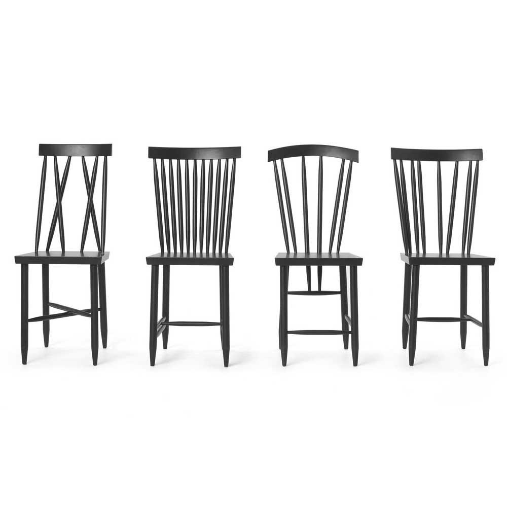 Family Chair n ° 2 zwart (set van 2) Design House Stockholm