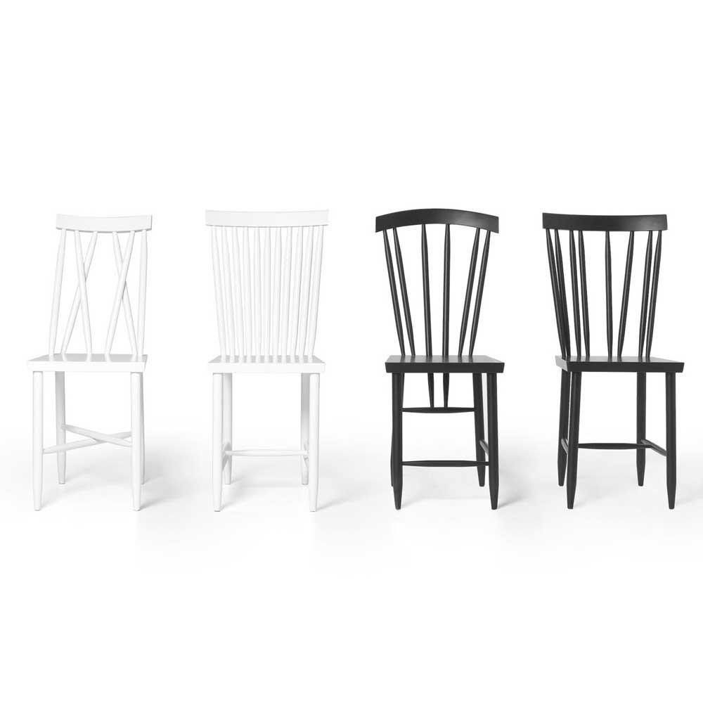 Chaise Family n°3 blanc (lot de 2) Design House Stockholm