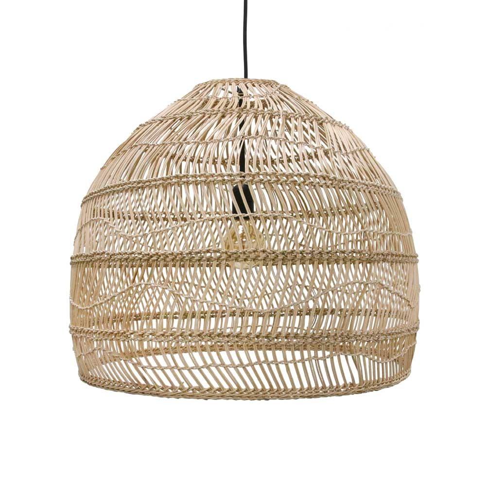Bal hanglamp in natuurlijk wicker M HKliving