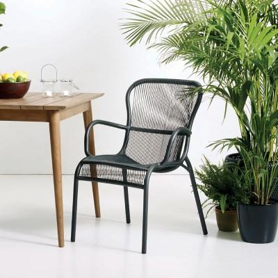 Loop dining chair black