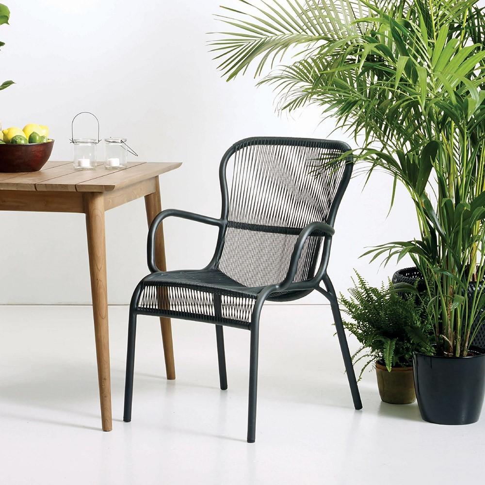 Chaise de table Loop noir Vincent Sheppard