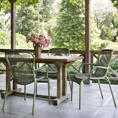 Loop dining chair moss