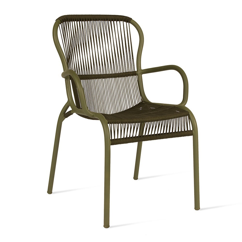 Loop dining chair moss Vincent Sheppard