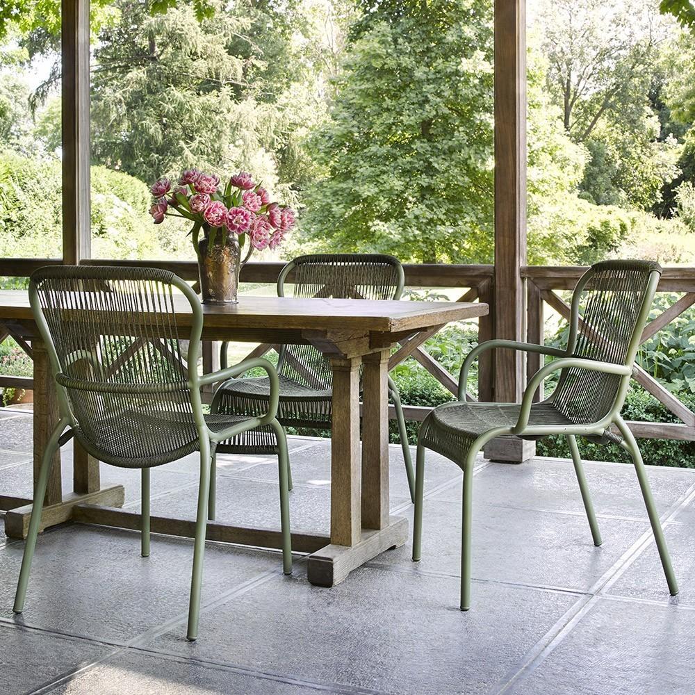 Loop beige / steenwitte tafelstoel Vincent Sheppard