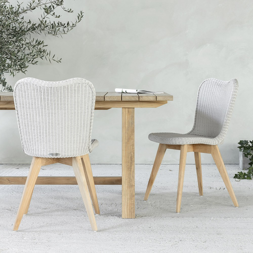 Lena dining chair teak base Vincent Sheppard