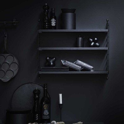 String pocket shelf black