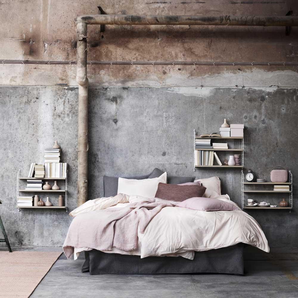 String pocket plank eiken & wit String Furniture