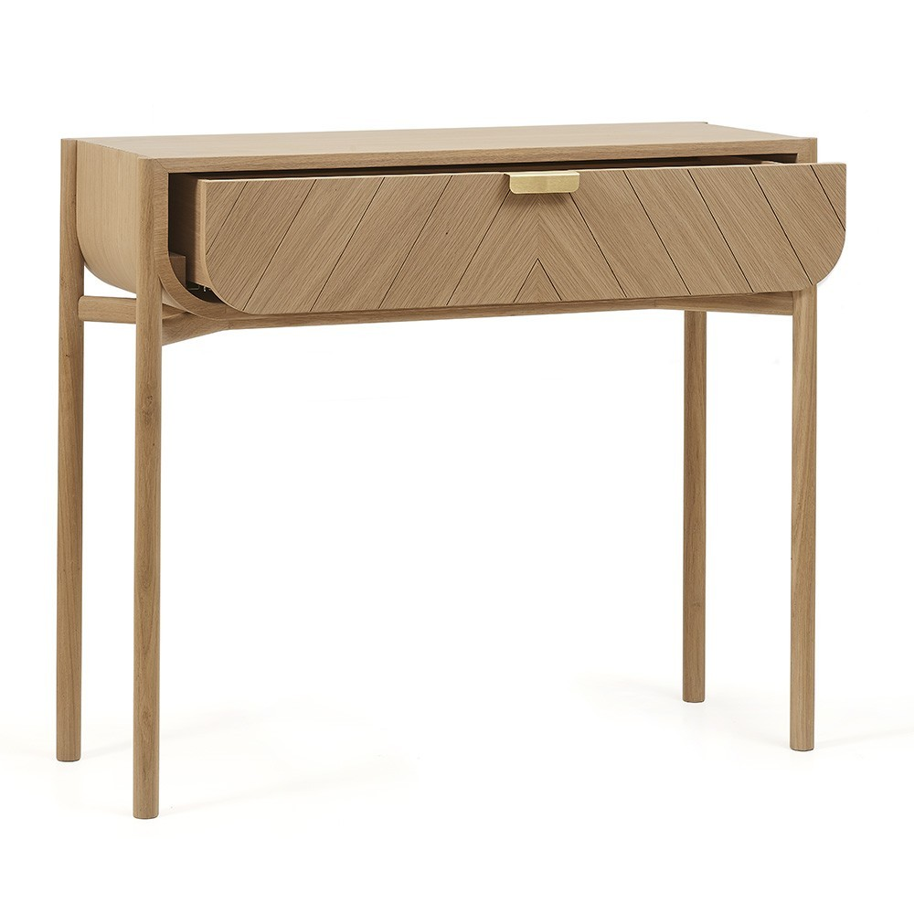Marius console natural oak Hartô