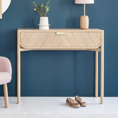 Marius console natural oak