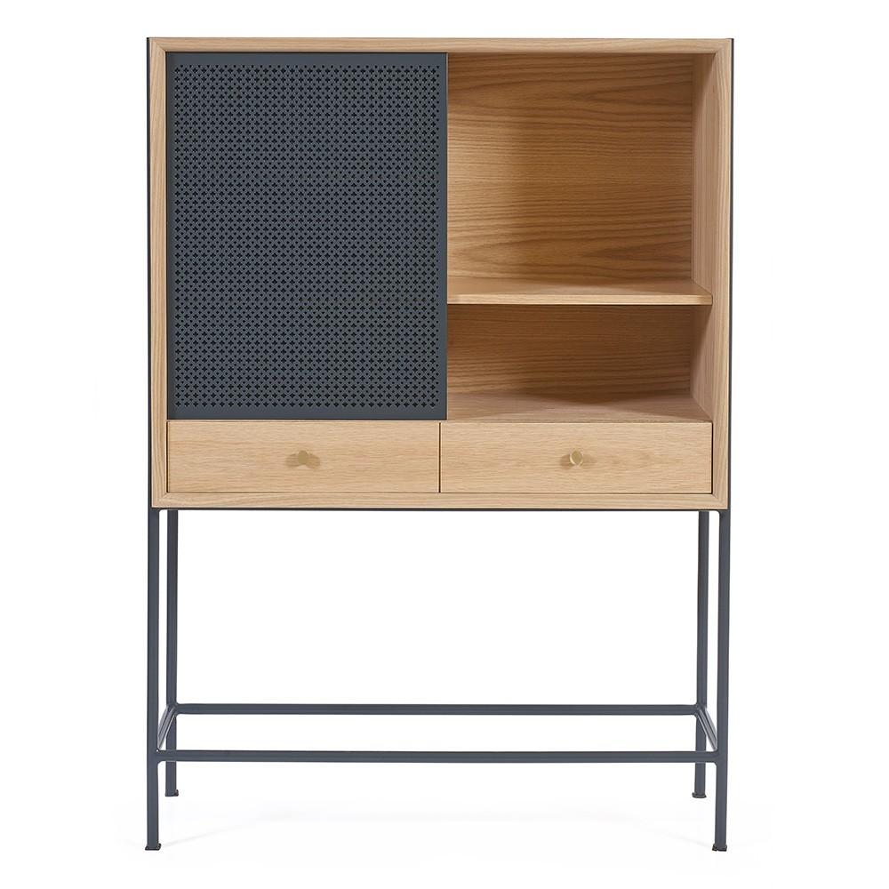 Gabin cabinet oak slate grey Hartô