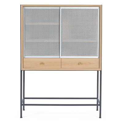Gabin cabinet oak light grey Hartô