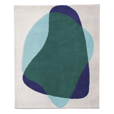 Serge vloerkleed blauw / groen