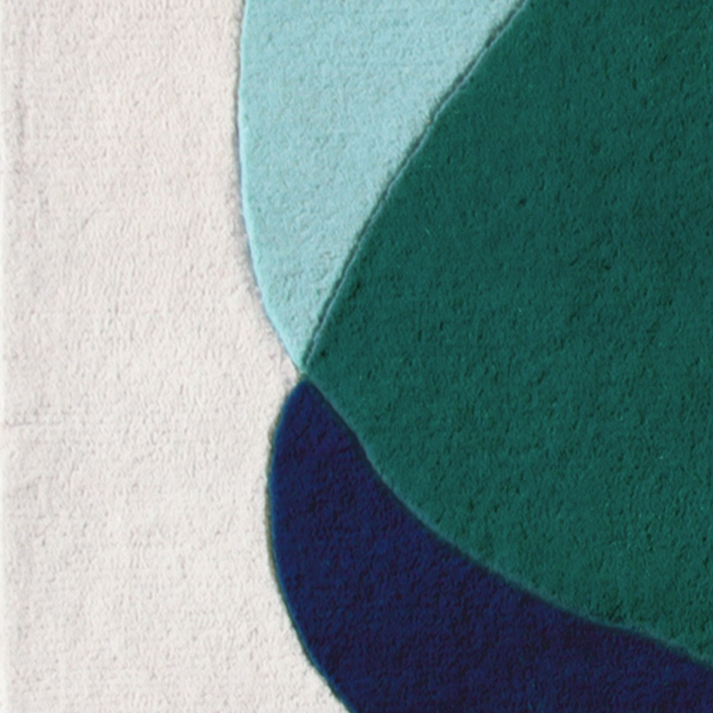 Tapis Serge bleu/vert Hartô