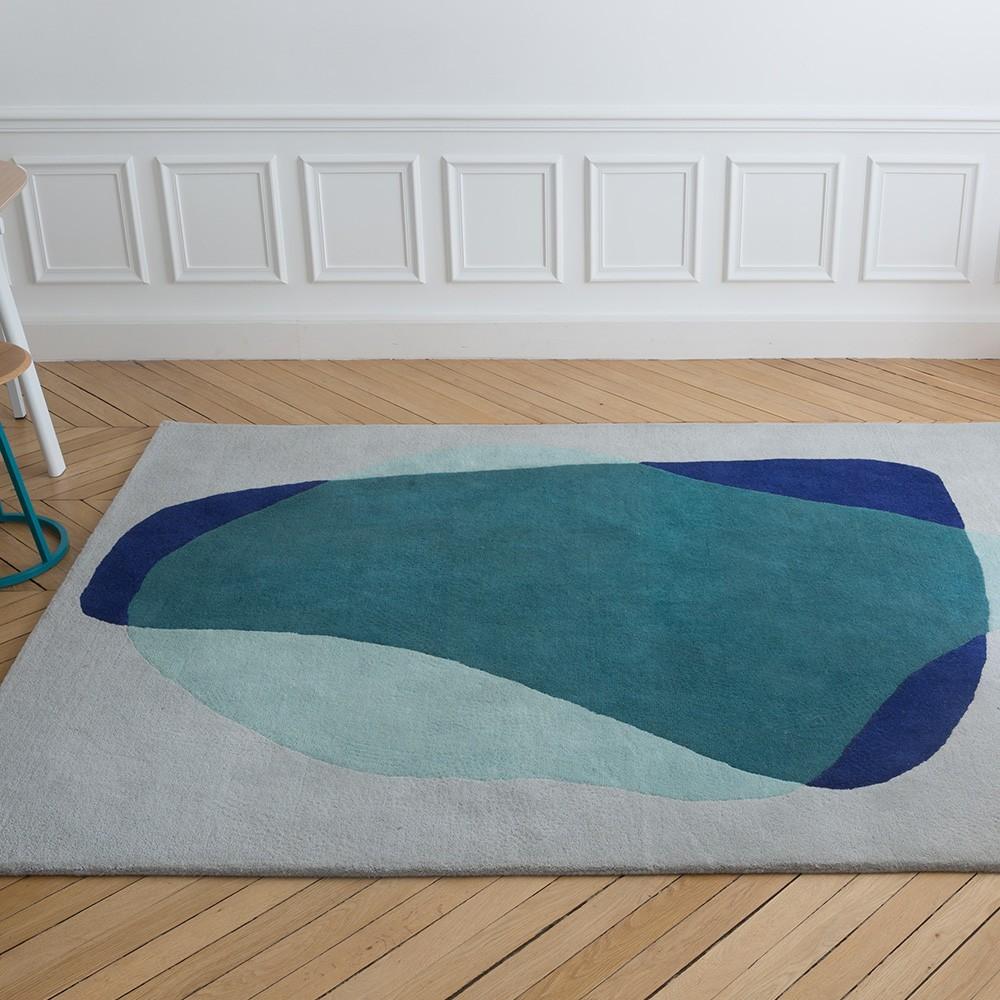 Serge Teppich blau / grün Hartô