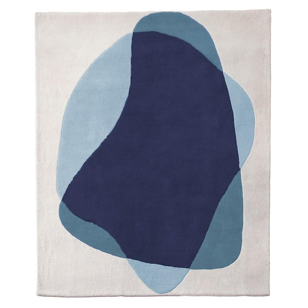 Serge vloerkleed blauw / grijs Hartô