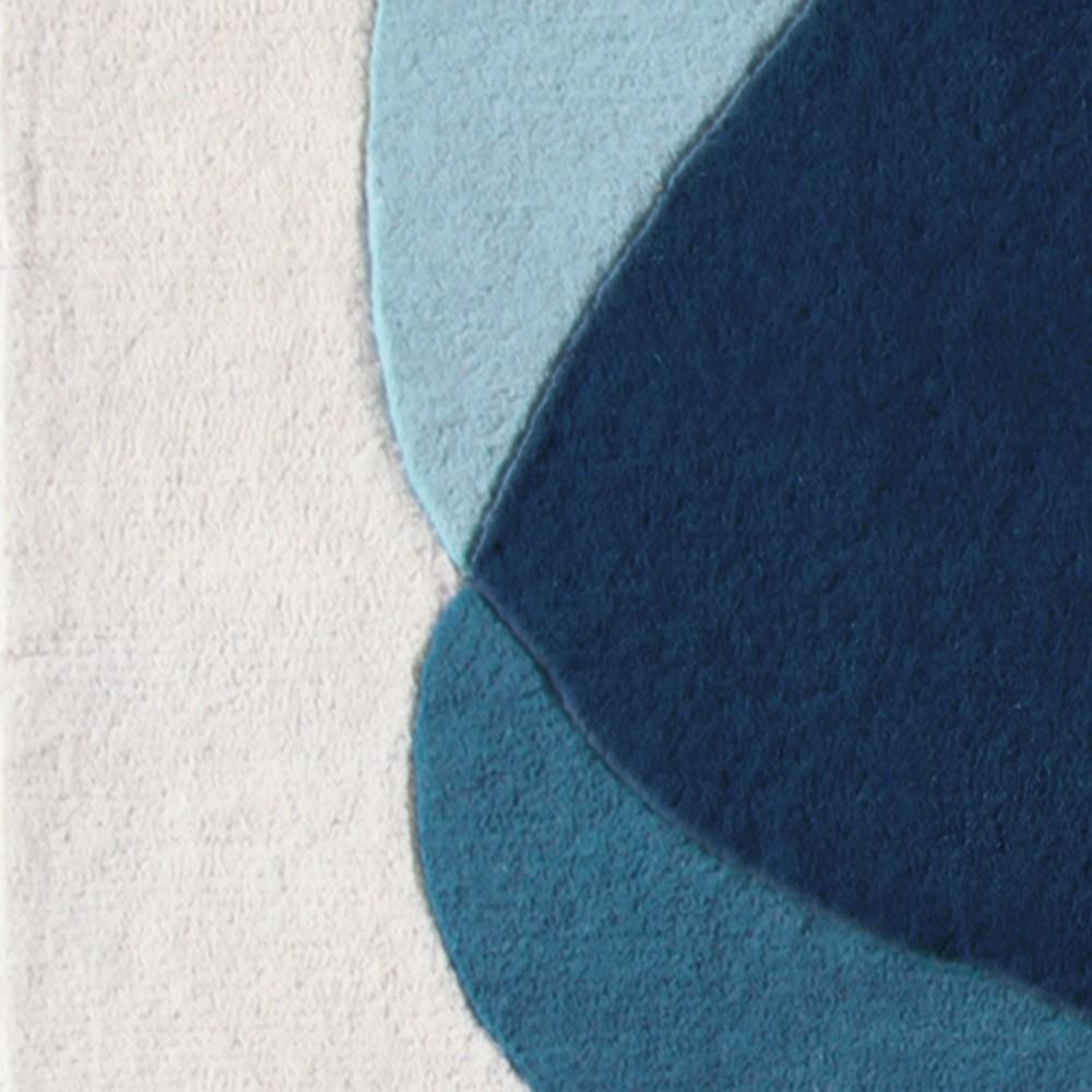 Tapis Serge bleu/gris Hartô