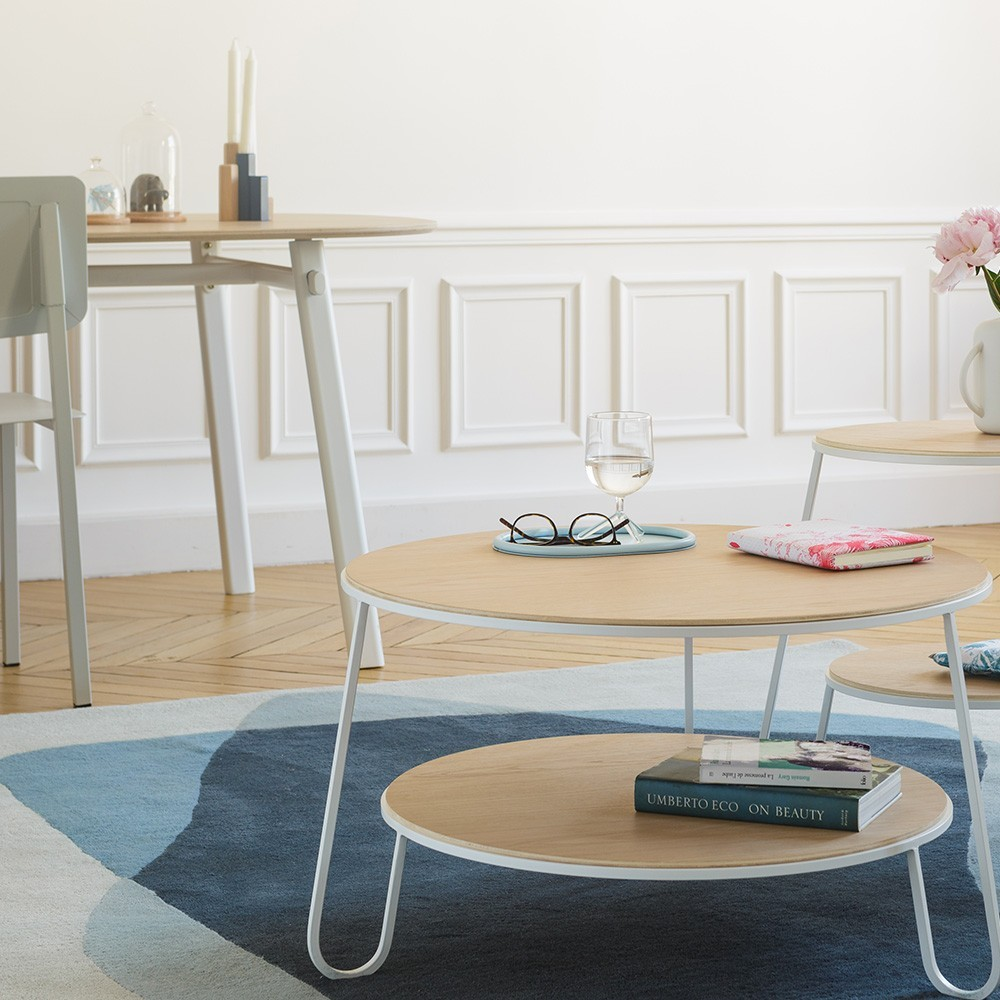 Serge rug blue/grey Hartô