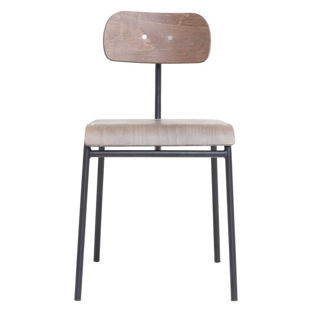 Chaise School brun foncé House Doctor