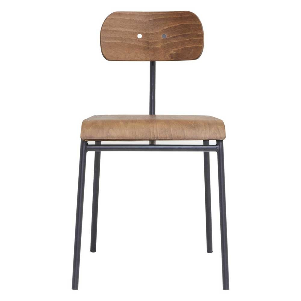 Chaise School brun House Doctor