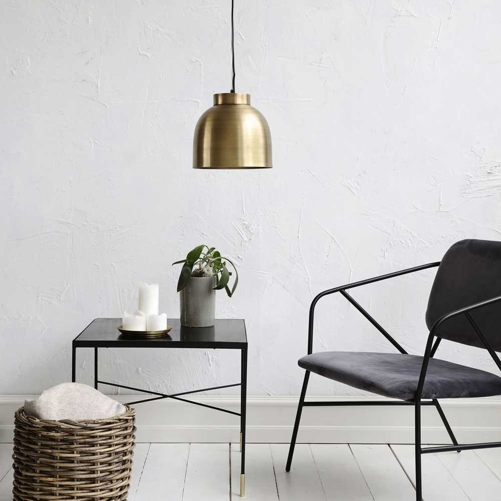 Bowl lamp brass S House Doctor