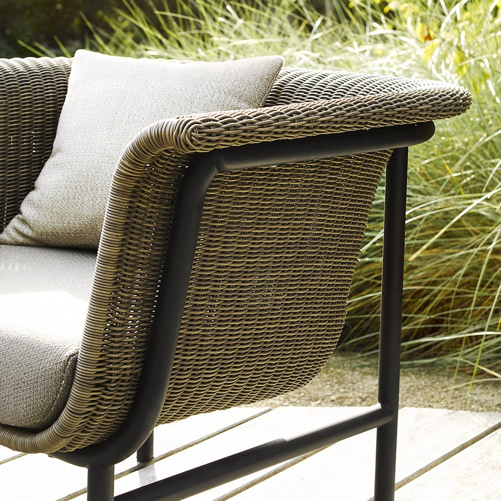 Wicked lounge armchair natural/green Vincent Sheppard