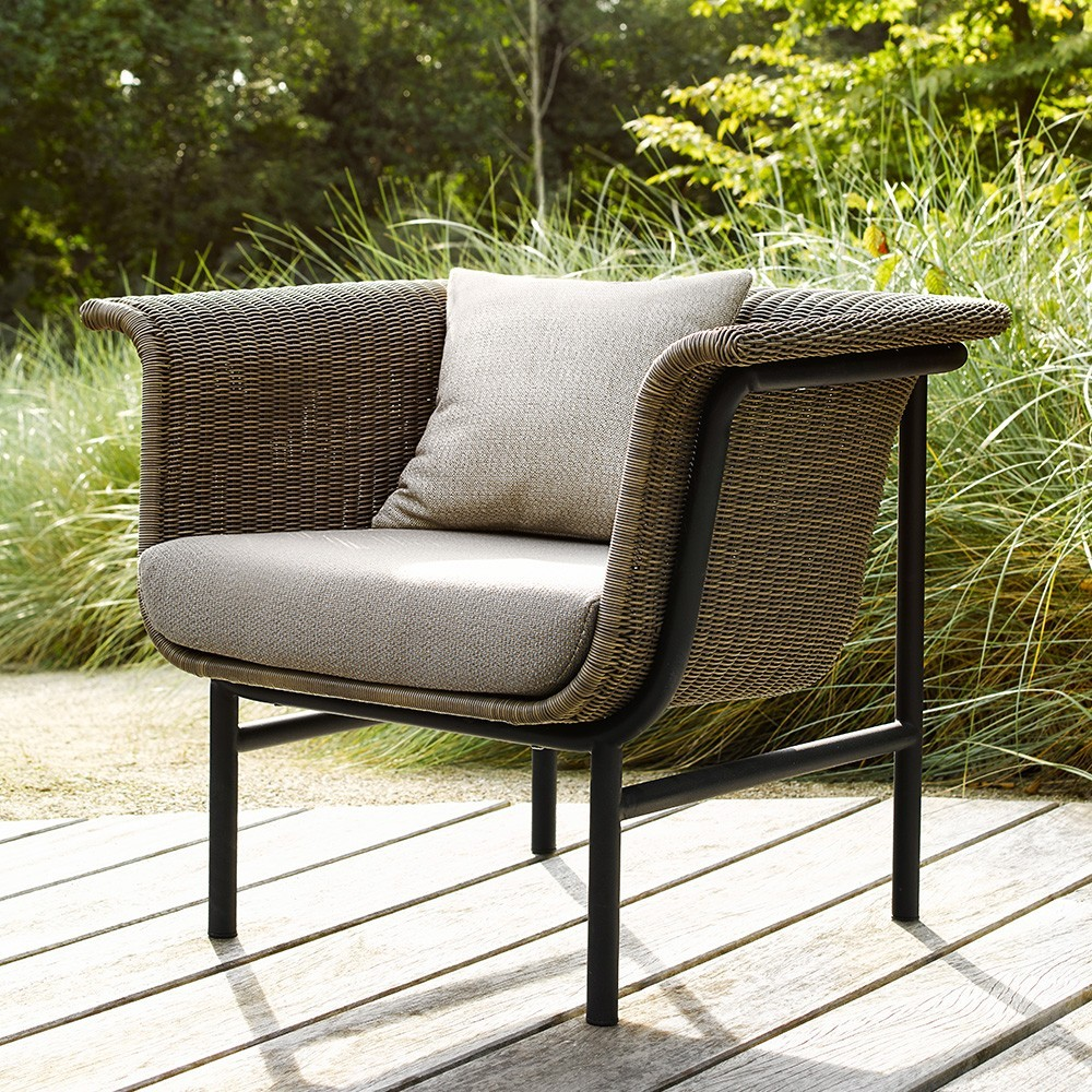 Wicked lounge armchair taupe/charcoal Vincent Sheppard