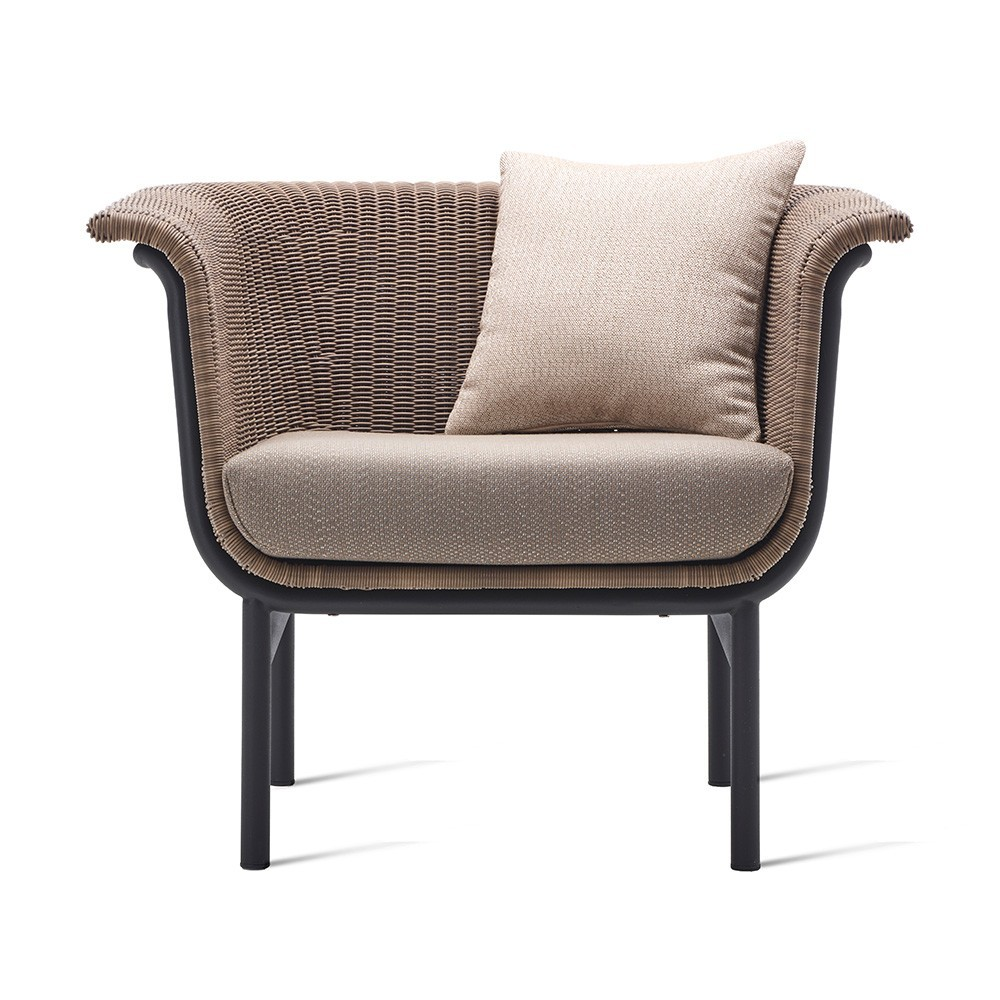 Wicked lounge armchair taupe Vincent Sheppard